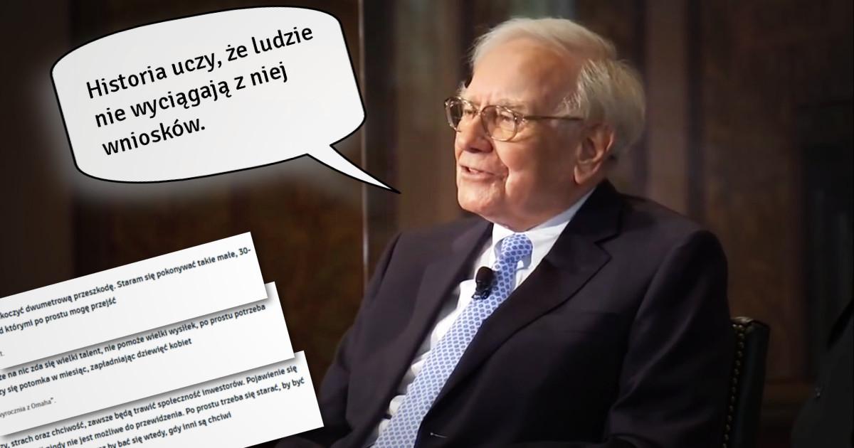 Cytaty Warrena Buffetta Które Każdy Inwestor Powinien Znać