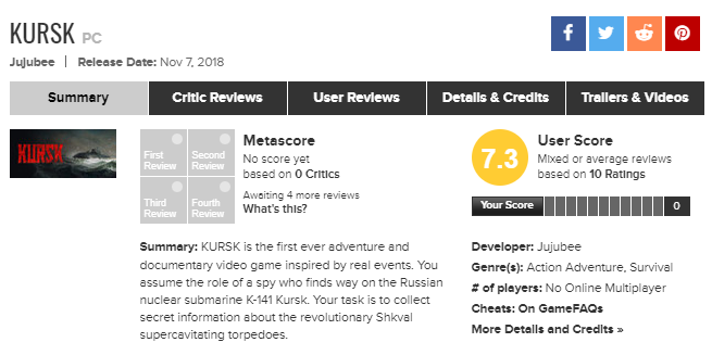 Kursk metacritic